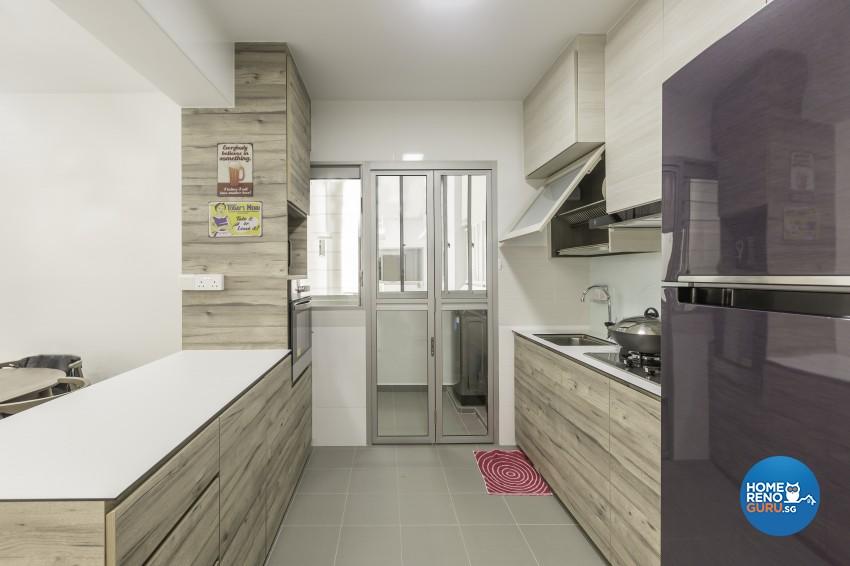 Modern Design - Kitchen - HDB 4 Room - Design by Jialux Interior Pte Ltd