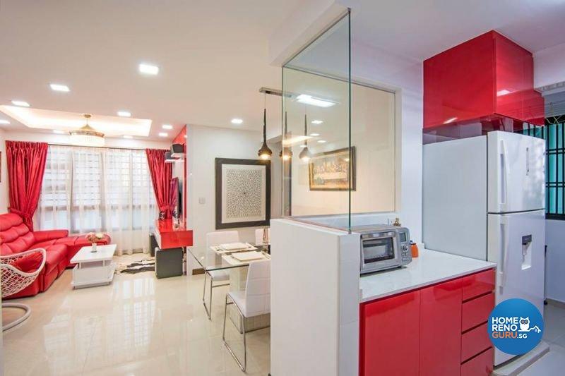 Modern Design - Living Room - HDB 3 Room - Design by Jialux Interior Pte Ltd