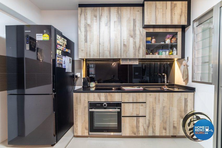 Industrial Design - Kitchen - HDB 4 Room - Design by Jialux Interior Pte Ltd