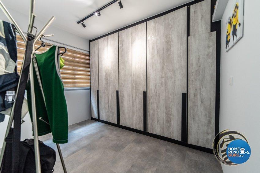 Industrial Design - Bedroom - HDB 4 Room - Design by Jialux Interior Pte Ltd