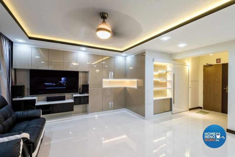 Contemporary Design - Living Room - HDB 5 Room - Design by Jialux Interior Pte Ltd
