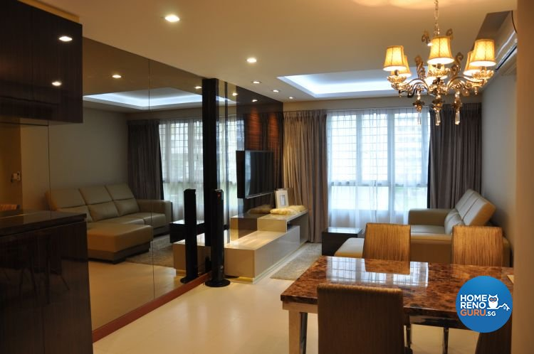 Contemporary, Modern Design - Living Room - HDB 4 Room - Design by Joo Guan Huat Trading & Construction