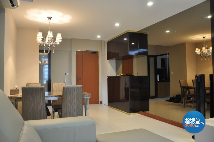 Contemporary, Modern Design - Living Room - HDB 4 Room - Design by Joo Guan Huat Trading & Construction