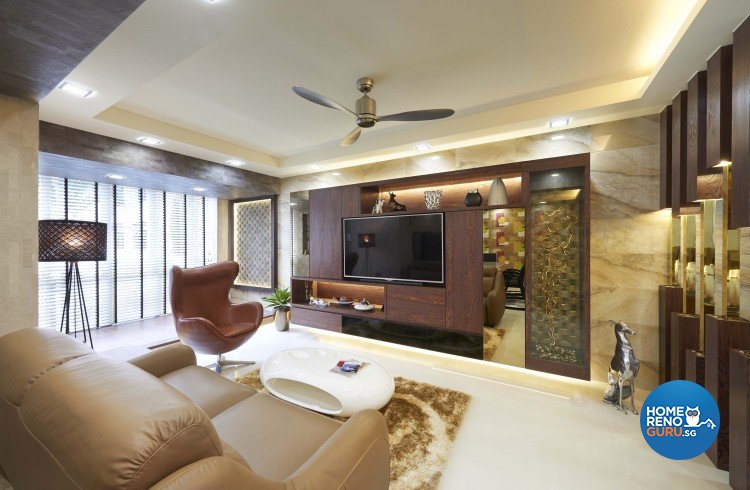 Contemporary Design - Living Room - HDB Executive Apartment - Design by JSR Design