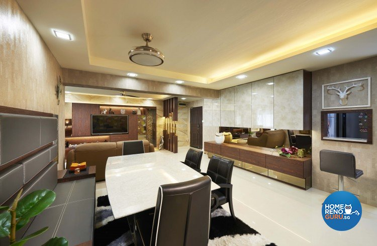 Contemporary Design - Dining Room - HDB Executive Apartment - Design by JSR Design
