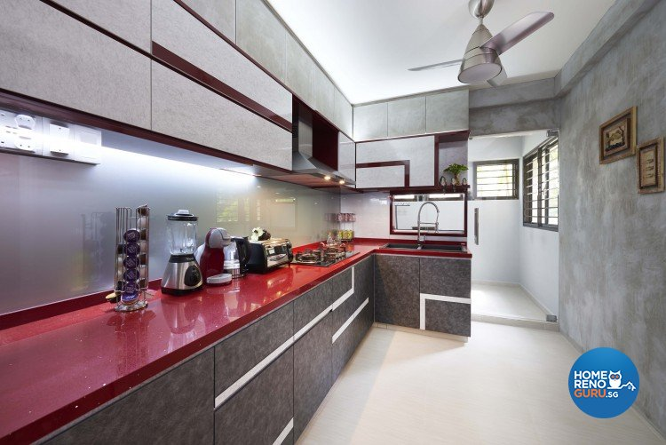 Contemporary Design - Kitchen - HDB Executive Apartment - Design by JSR Design