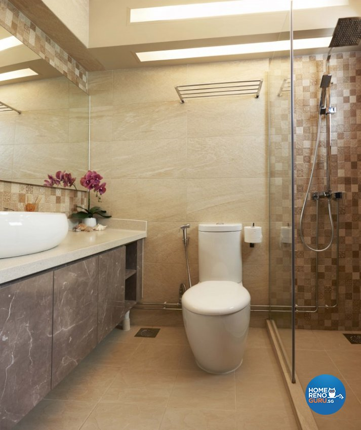 Contemporary Design - Bathroom - HDB Executive Apartment - Design by JSR Design
