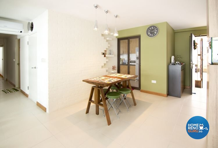Minimalist, Modern, Scandinavian Design - Dining Room - HDB 5 Room - Design by Kaleido Interior LLP