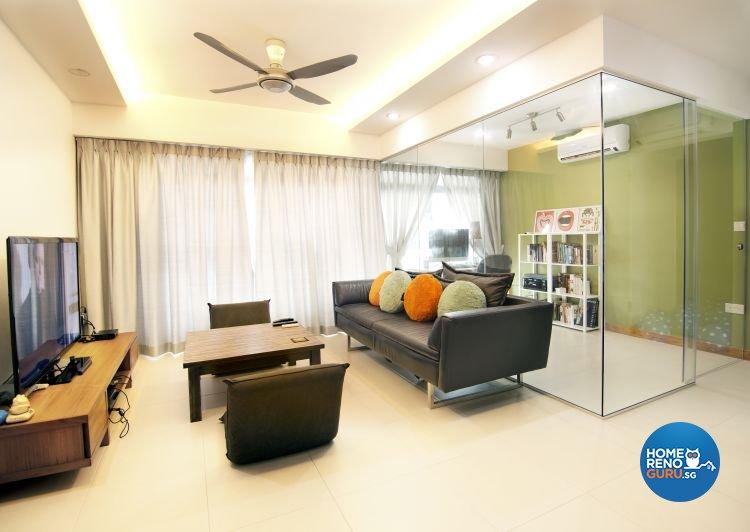 Minimalist, Modern, Scandinavian Design - Living Room - HDB 5 Room - Design by Kaleido Interior LLP