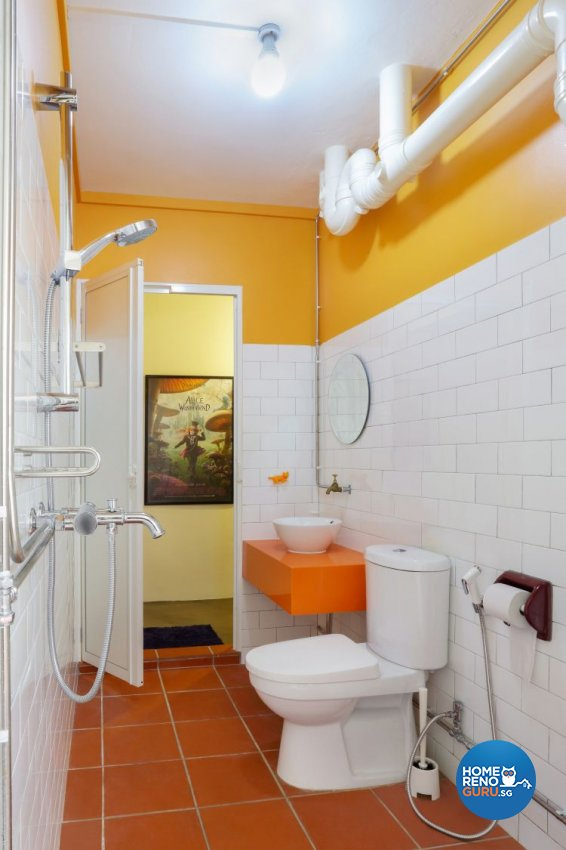 Country, Modern Design - Bathroom - HDB 5 Room - Design by Kaleido Interior LLP