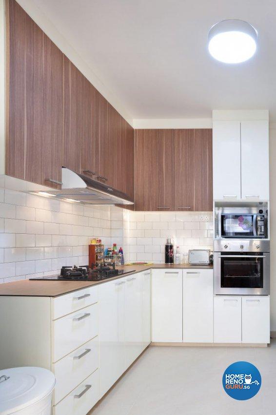 Country, Modern Design - Kitchen - HDB 5 Room - Design by Kaleido Interior LLP