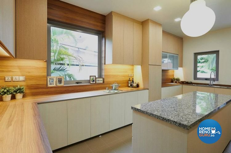 Contemporary, Modern, Tropical Design - Kitchen - Landed House - Design by Kaleido Interior LLP