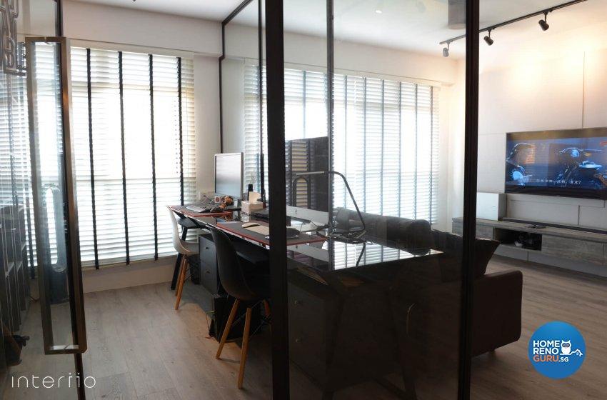 Contemporary, Modern Design - Study Room - HDB 5 Room - Design by Interiio Pte Ltd