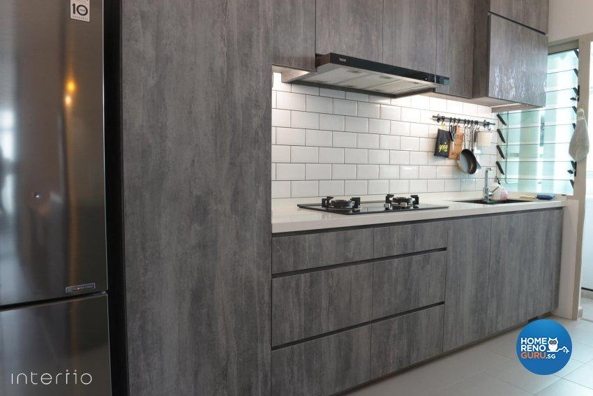 Contemporary, Modern Design - Kitchen - HDB 5 Room - Design by Interiio Pte Ltd