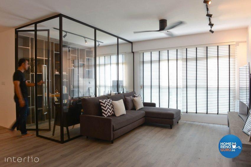 Contemporary, Modern Design - Living Room - HDB 5 Room - Design by Interiio Pte Ltd