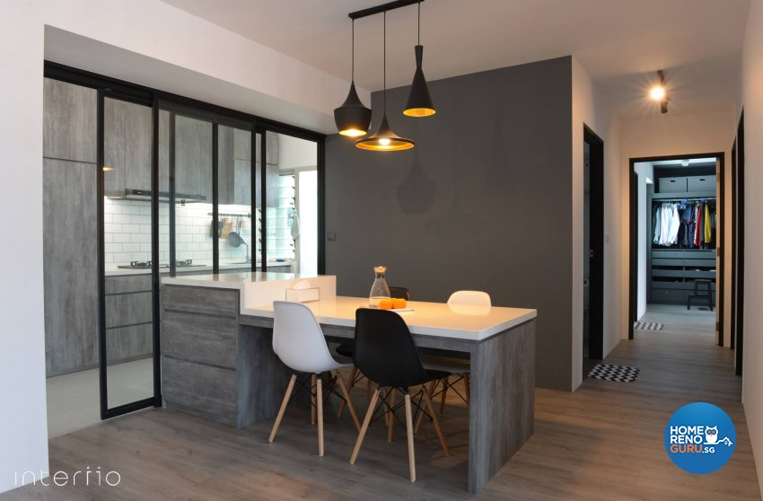 Contemporary, Modern Design - Dining Room - HDB 5 Room - Design by Interiio Pte Ltd