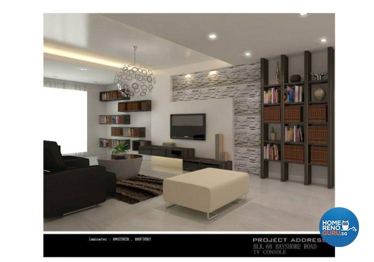 Classical, Industrial, Modern Design - Living Room - Condominium - Design by Ken Home Design & Construction