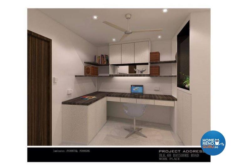 Classical, Industrial, Modern Design - Study Room - Condominium - Design by Ken Home Design & Construction