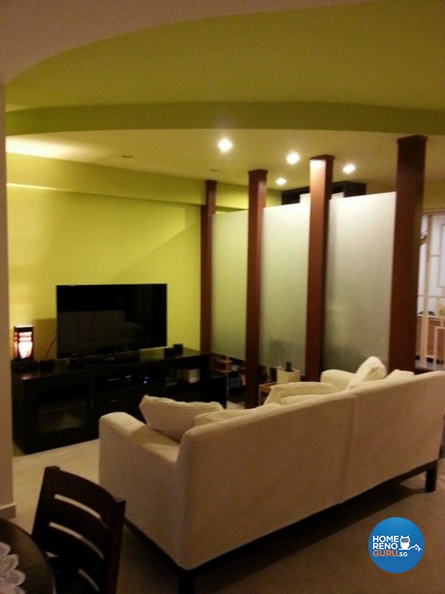 Classical, Modern, Rustic Design - Living Room - HDB 5 Room - Design by Ken Home Design & Construction