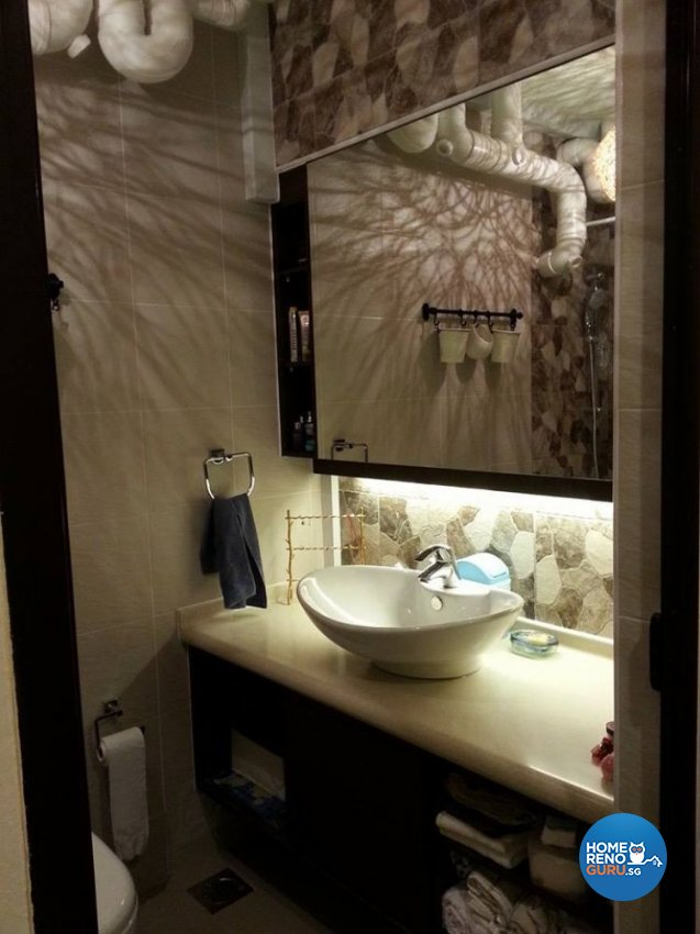 Classical, Modern, Rustic Design - Bathroom - HDB 5 Room - Design by Ken Home Design & Construction