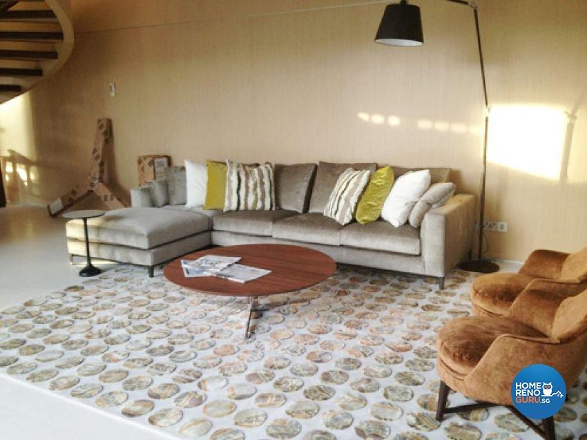 Country, Modern Design - Living Room - Landed House - Design by Kitzig Design Studio Pte Ltd