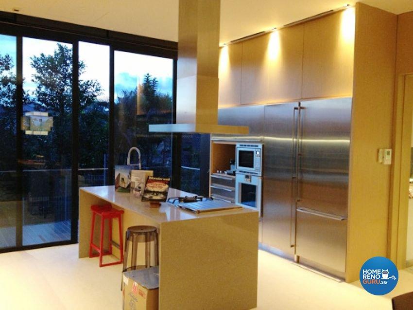 Country, Modern Design - Kitchen - Landed House - Design by Kitzig Design Studio Pte Ltd