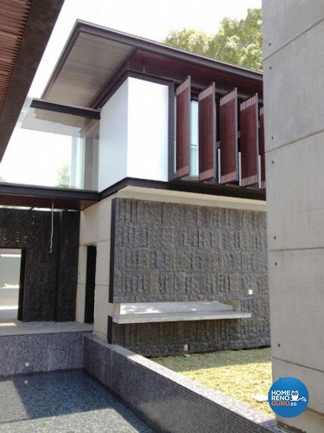 Country, Modern Design - Garden - Landed House - Design by Kitzig Design Studio Pte Ltd