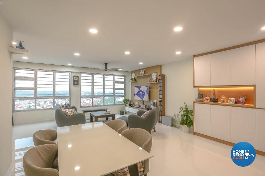Modern Design - Living Room - HDB 5 Room - Design by Le Interi