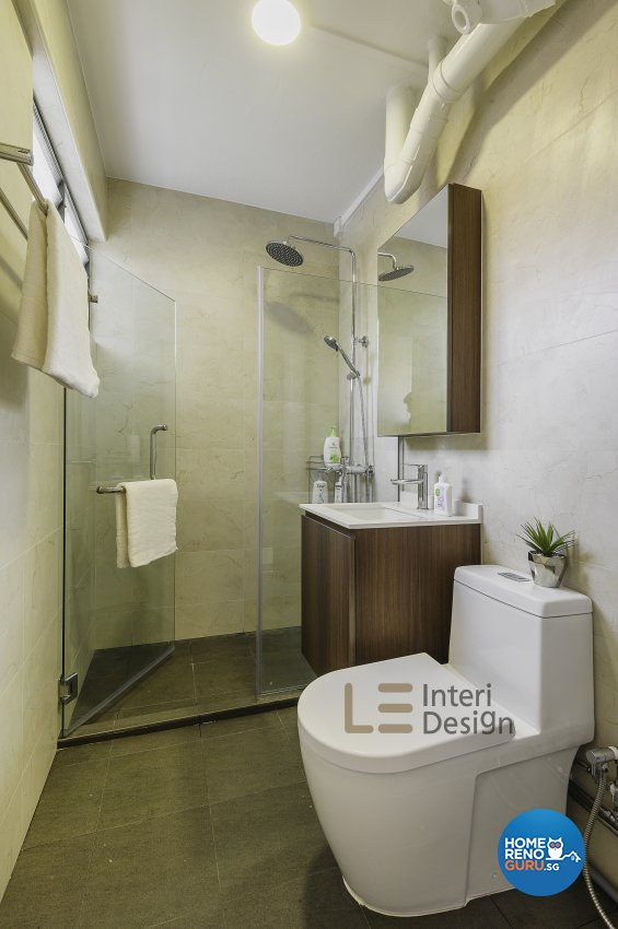 Classical, Minimalist, Resort Design - Bathroom - HDB 4 Room - Design by Le Interi