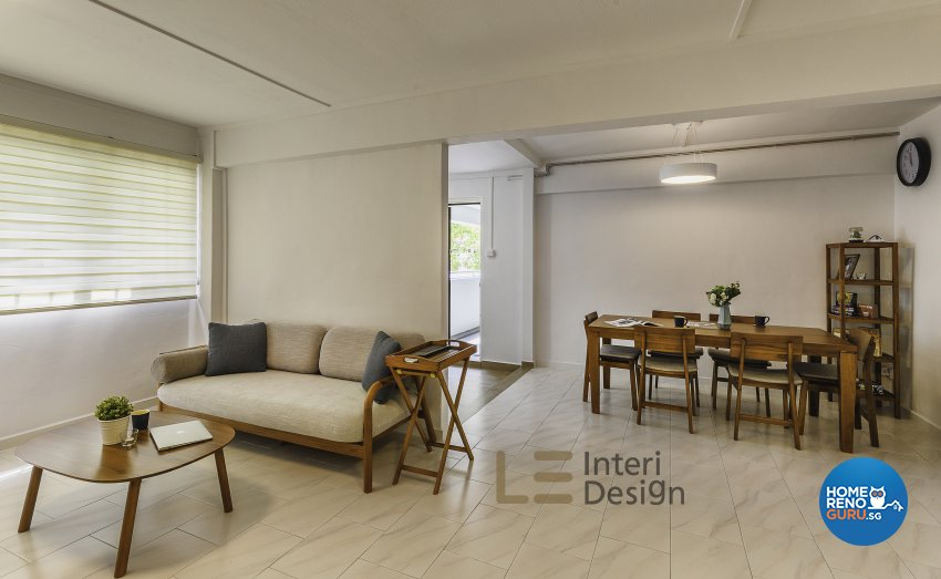 Classical, Minimalist, Resort Design - Living Room - HDB 4 Room - Design by Le Interi