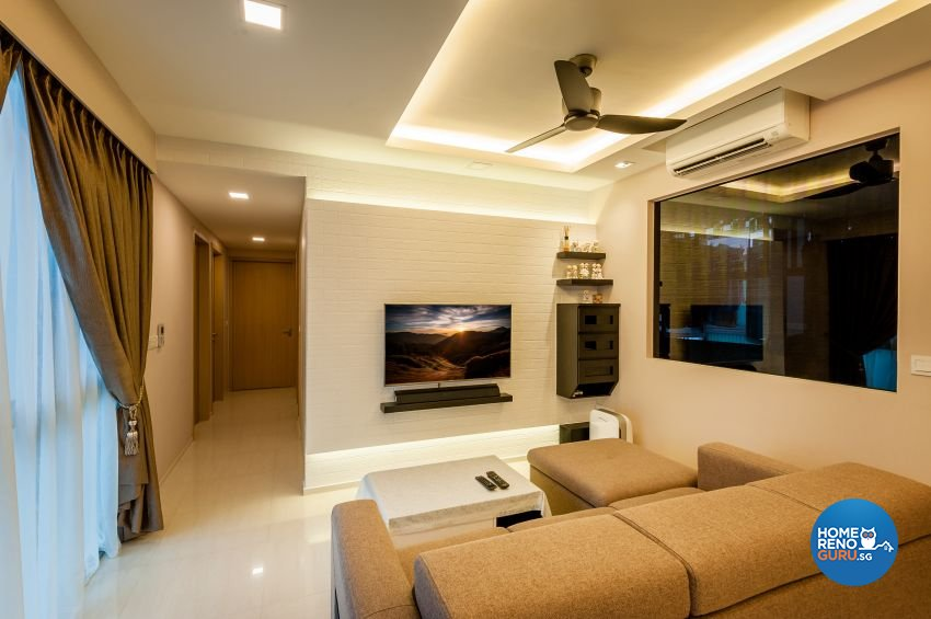 Classical, Contemporary Design - Living Room - Condominium - Design by Le Interi