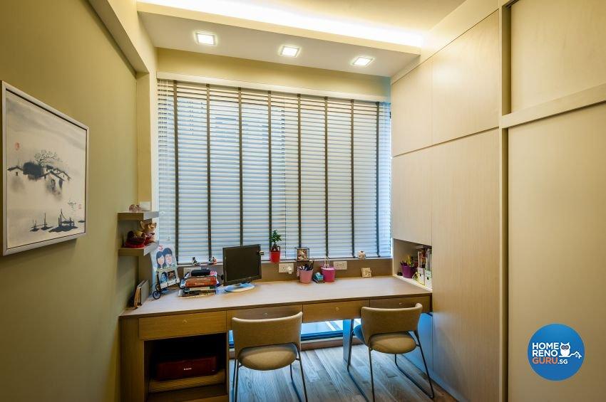 Classical, Contemporary, Modern Design - Study Room - Condominium - Design by Le Interi