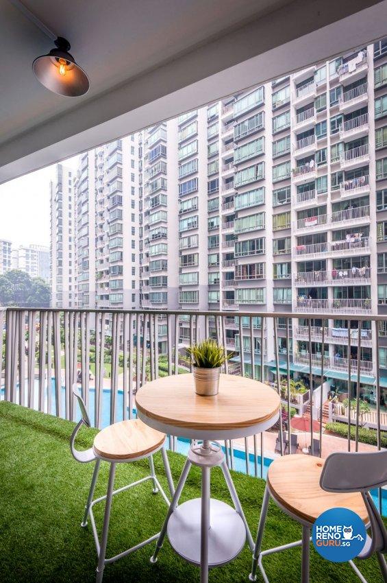 Minimalist, Modern, Scandinavian Design - Balcony - Condominium - Design by Le Interi