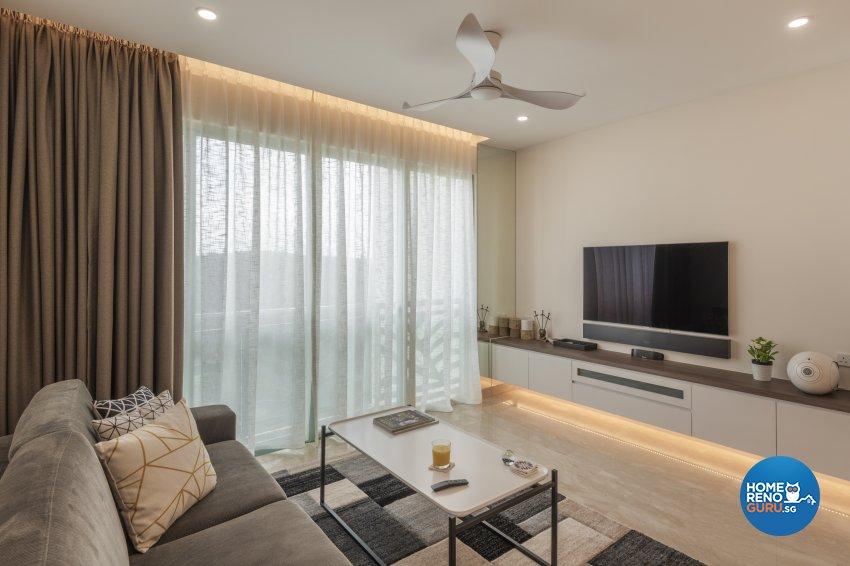 Classical Design - Living Room - Condominium - Design by Le Interi