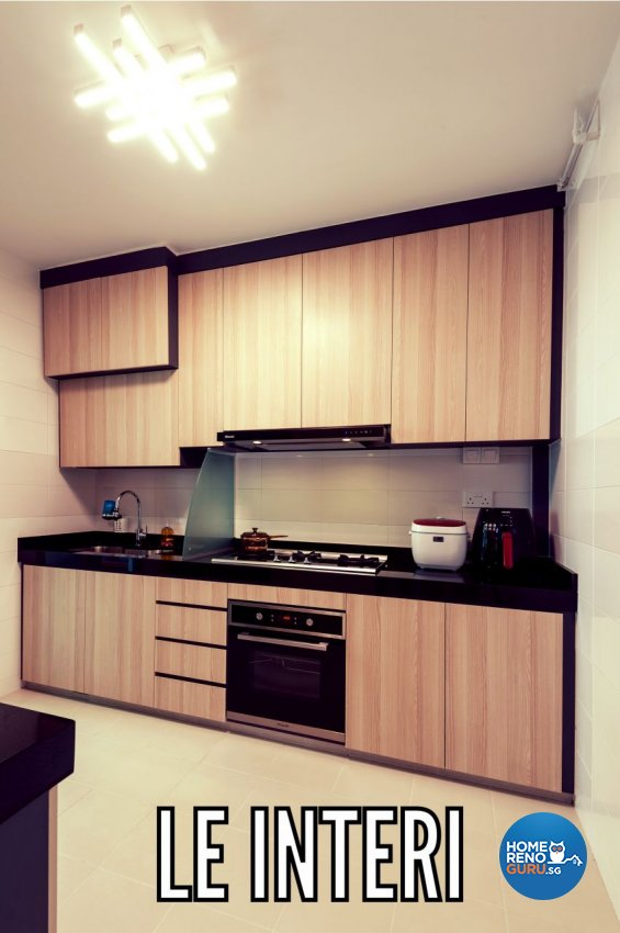 Contemporary, Modern Design - Kitchen - HDB 4 Room - Design by Le Interi