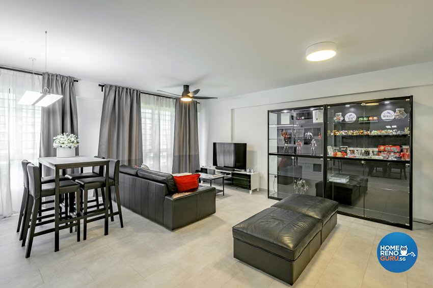 Contemporary Design -  - HDB 5 Room - Design by Le Interi
