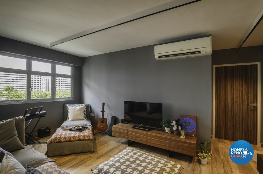 Eclectic, Retro, Rustic Design - Living Room - HDB 5 Room - Design by Le Interi