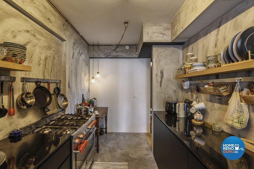 Eclectic, Retro, Rustic Design - Kitchen - HDB 5 Room - Design by Le Interi