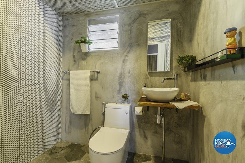 Eclectic, Retro, Rustic Design - Bathroom - HDB 5 Room - Design by Le Interi