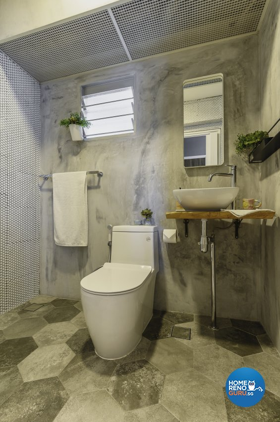 Eclectic, Retro, Rustic Design - Bathroom - HDB 5 Room - Design by Le Interi