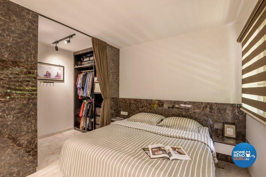 Classical, Contemporary, Rustic Design - Bedroom - HDB Executive Apartment - Design by Le Interi