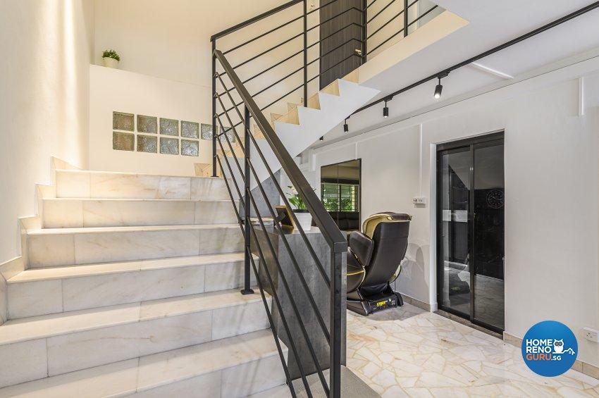 Classical, Contemporary, Rustic Design - Balcony - HDB Executive Apartment - Design by Le Interi