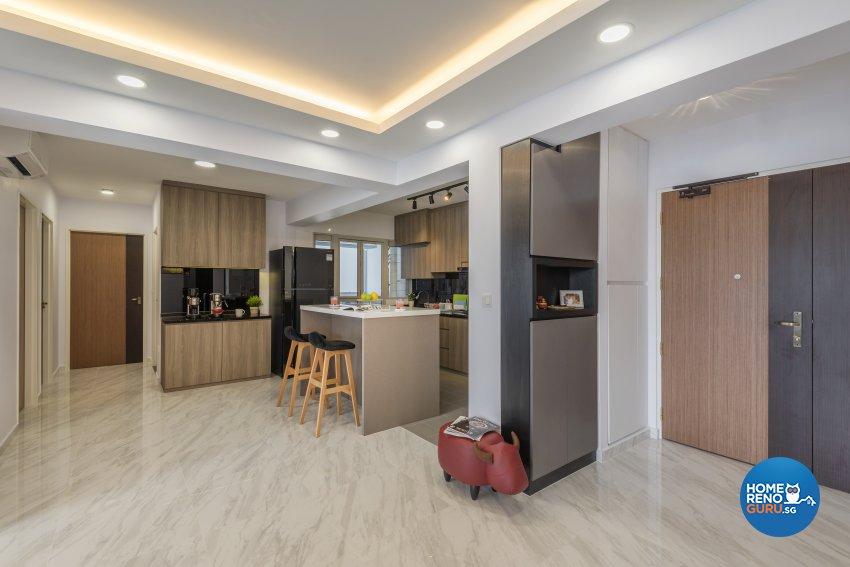 Contemporary, Modern, Scandinavian Design - Dining Room - HDB 4 Room - Design by Le Interi