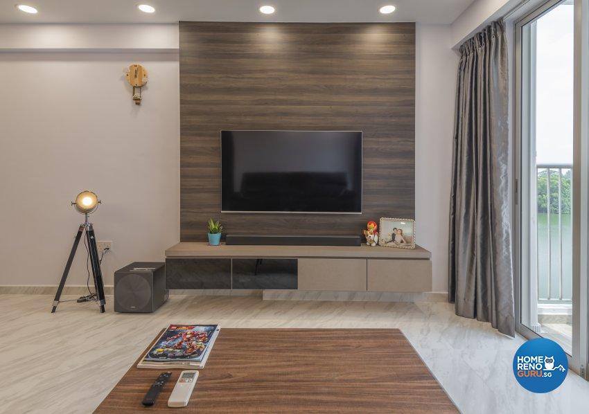 Contemporary, Modern, Scandinavian Design - Living Room - HDB 4 Room - Design by Le Interi