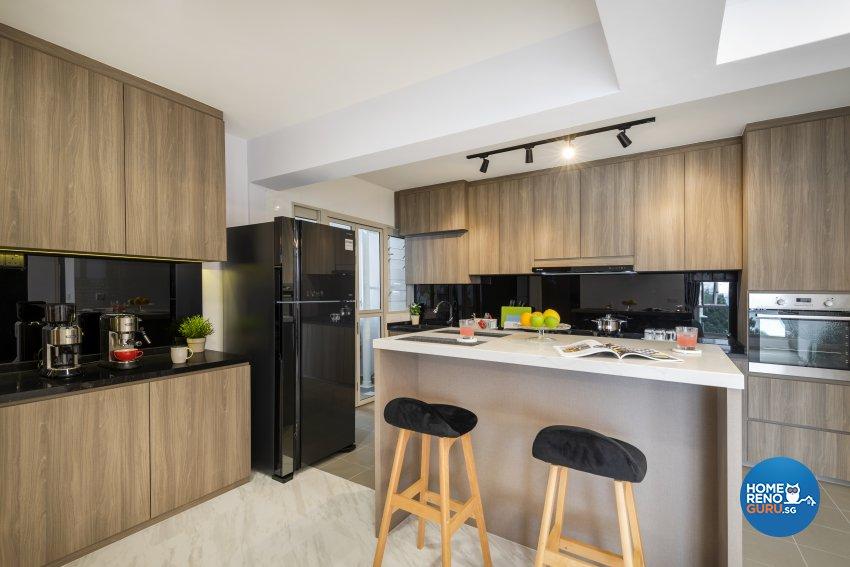 Contemporary, Modern, Scandinavian Design - Kitchen - HDB 4 Room - Design by Le Interi