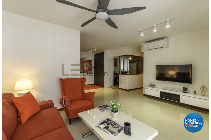 Contemporary, Modern Design - Living Room - HDB 5 Room - Design by Le Interi