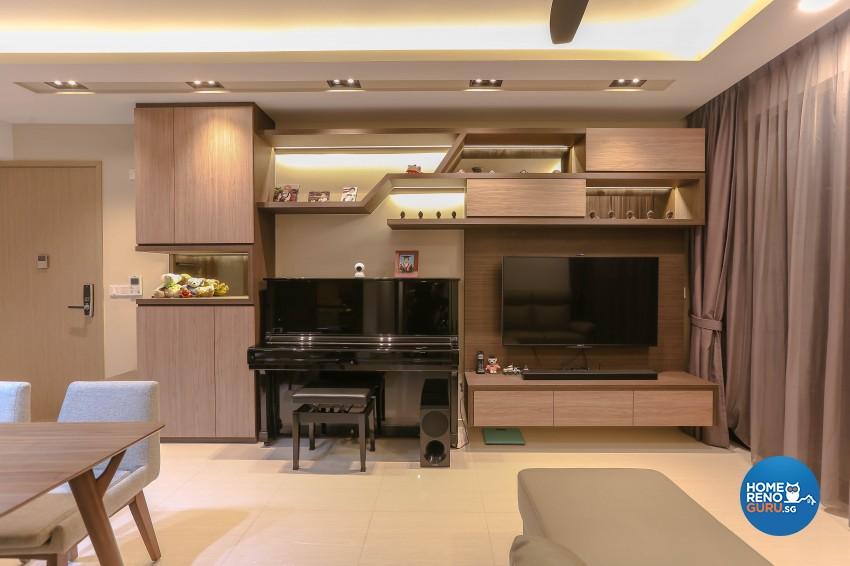 Modern Design - Living Room - Condominium - Design by Le Interi