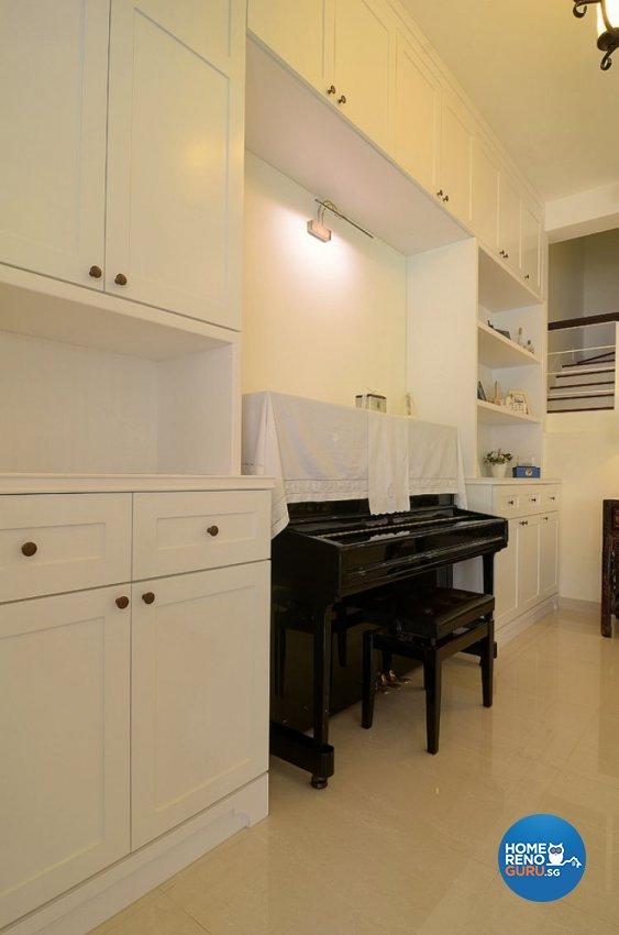 Country, Resort Design - Living Room - Landed House - Design by Le Posh Design Pte Ltd