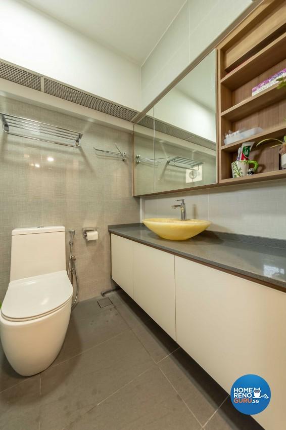 Modern Design - Bathroom - HDB 4 Room - Design by Leef Deco Pte Ltd
