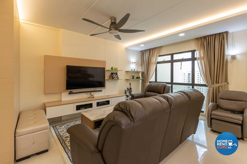 Modern Design - Living Room - HDB 4 Room - Design by Leef Deco Pte Ltd